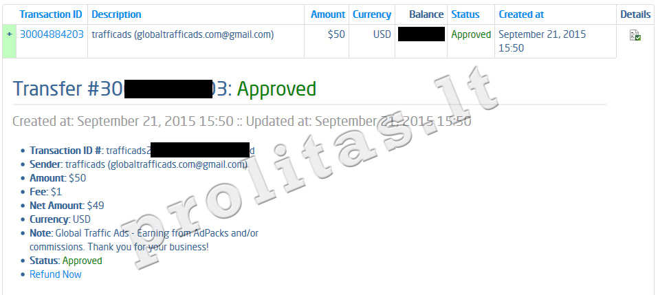 global traffic ads payment proof